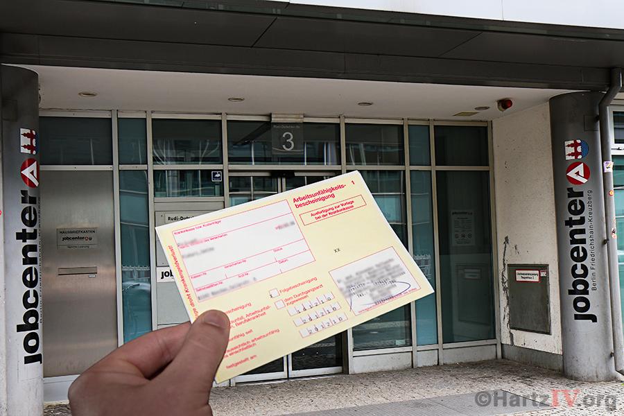 AU Attest ärztliche Bescheinigung Hartz IV Jobcenter