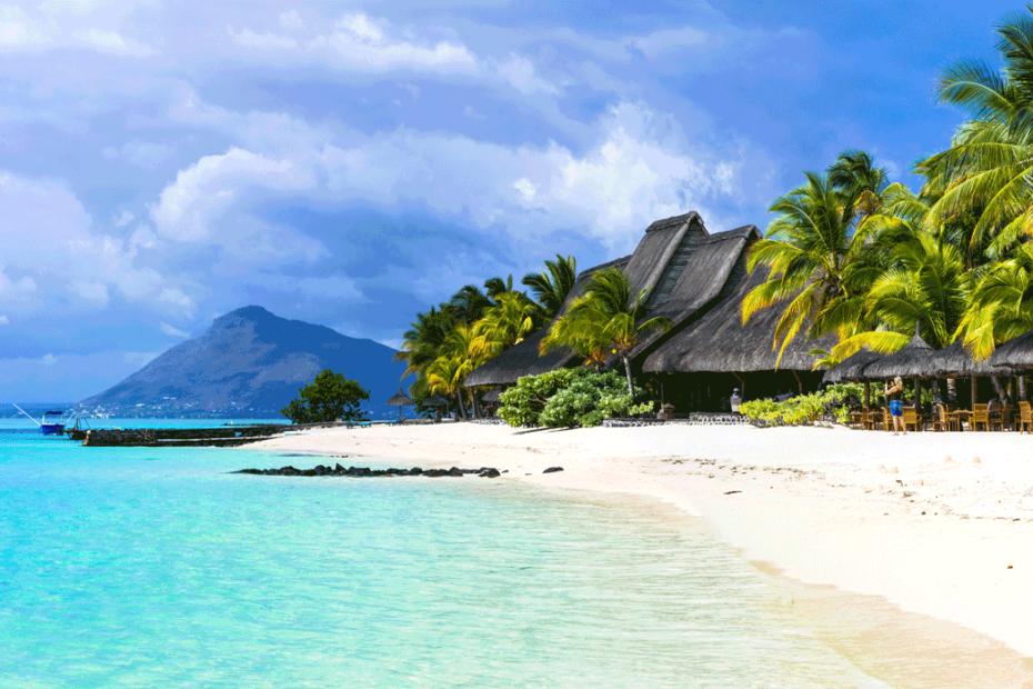 Strand-auf-Mauritius