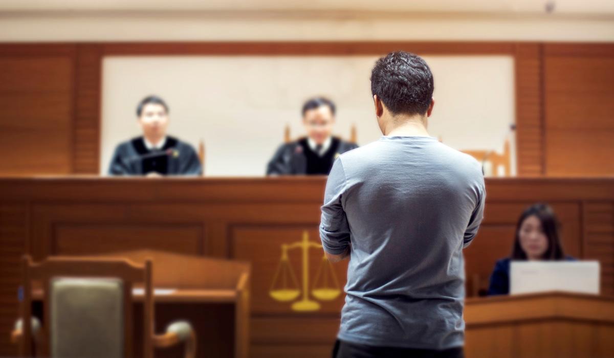 Mann vor Gericht