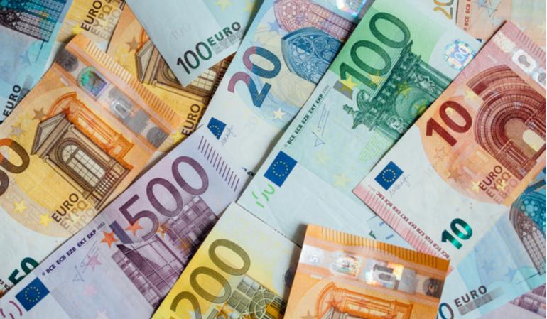 Euro Scheine - Wohngeld