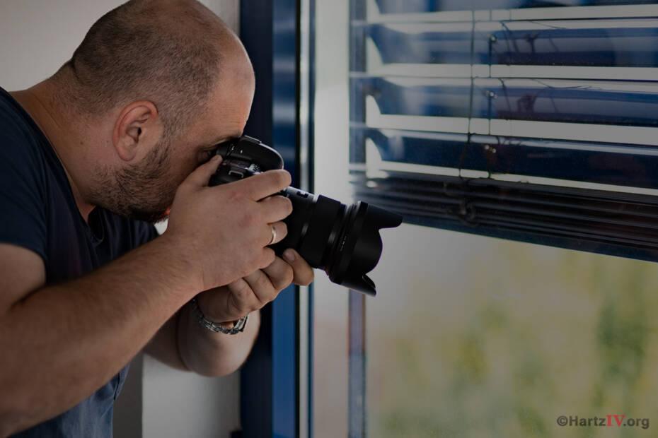 Beschattung Person Kamera Jobcenter Spion Hartz4