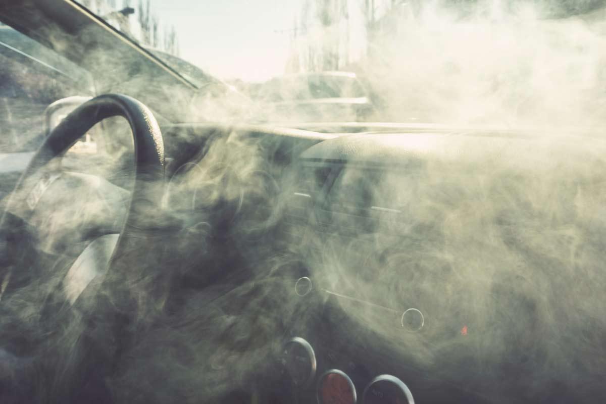 Rauch im Auto