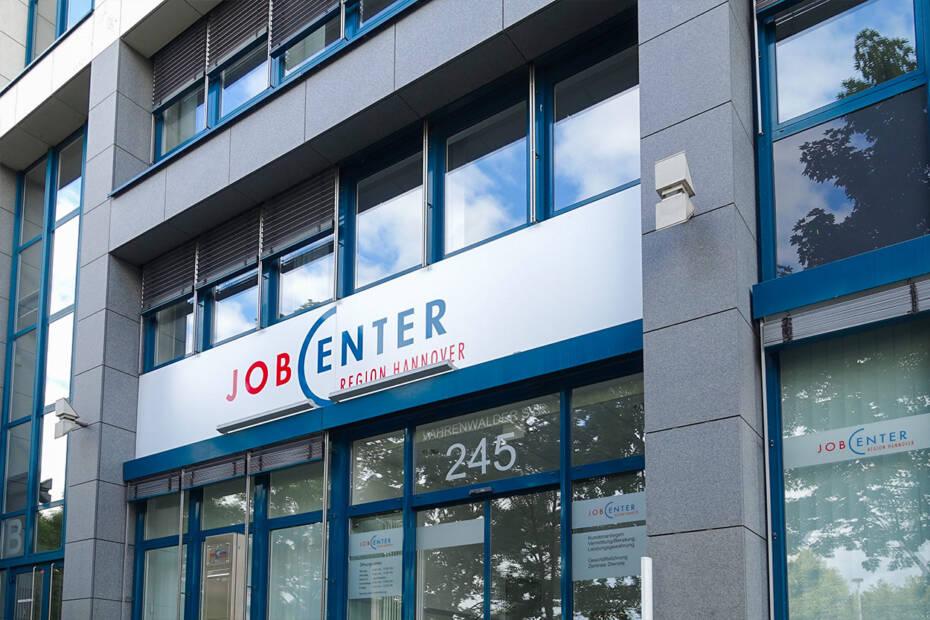 Jobcenter Eingang schließen in Corona-Krise