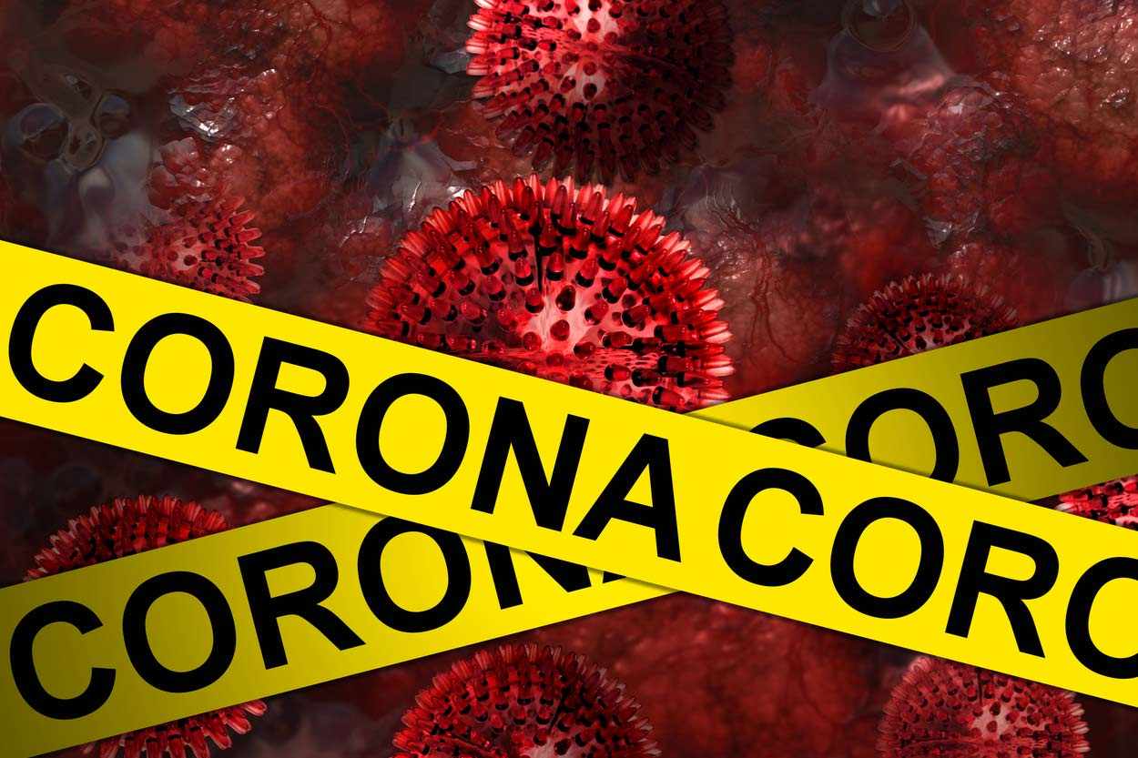 Coronavirus Absperrung