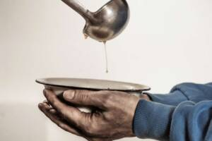 Essensausgabe an Bedürftige