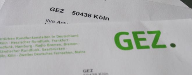 Post von der GEZ - Briefkopf Rundfunkbeitrag