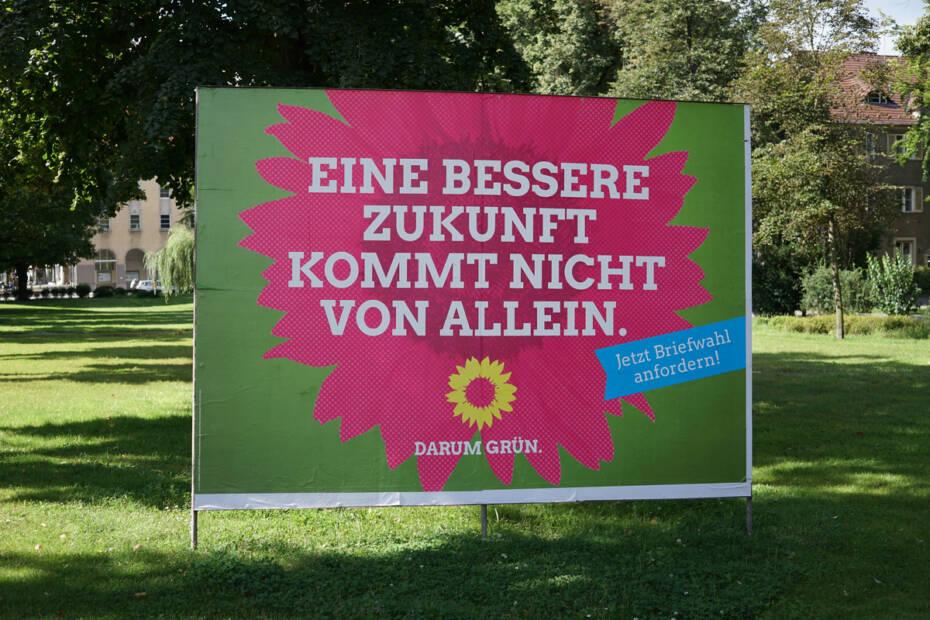 Wahlplakat Partei Die Grünen