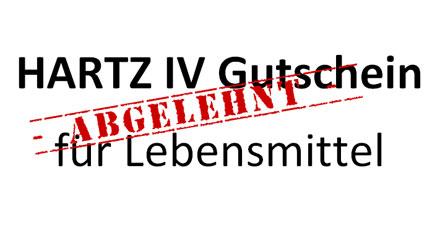Hartz IV Gutschein für Lebensmittel
