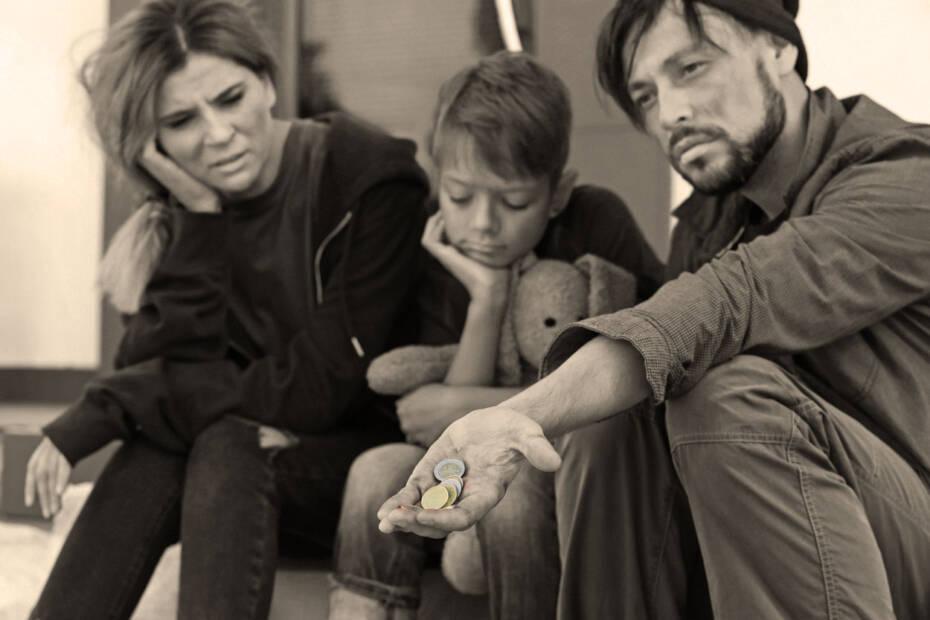 Familie Geld Sepia