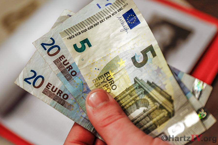 Geld Hartz4 Geldscheine Euro