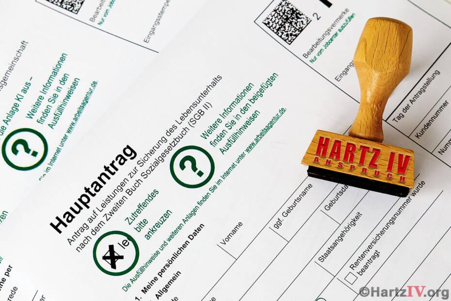 Anspruch ALG II Arbeitslosengeld Formular Hartz 4 Stempel