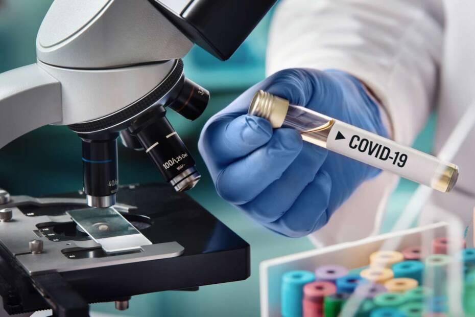 Covid-19 Probe im Labor