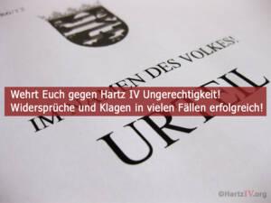 Viele Hartz IV Widersprüche und Klagen erfolgreich!
