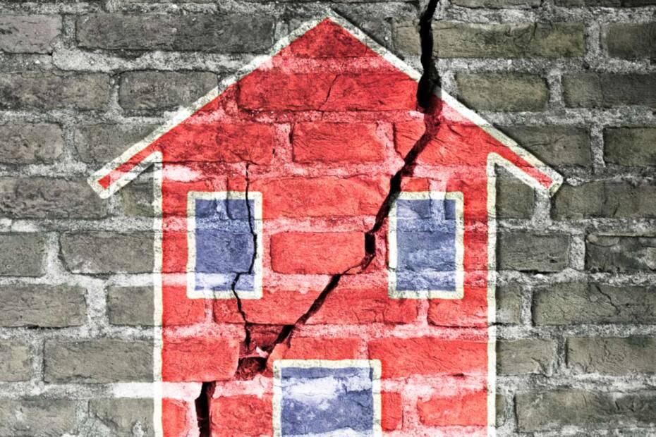 Zerbrochenes gemaltes Haus