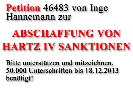 Petition zur Abschaffung von Hartz IV Sanktionen unterstützen!