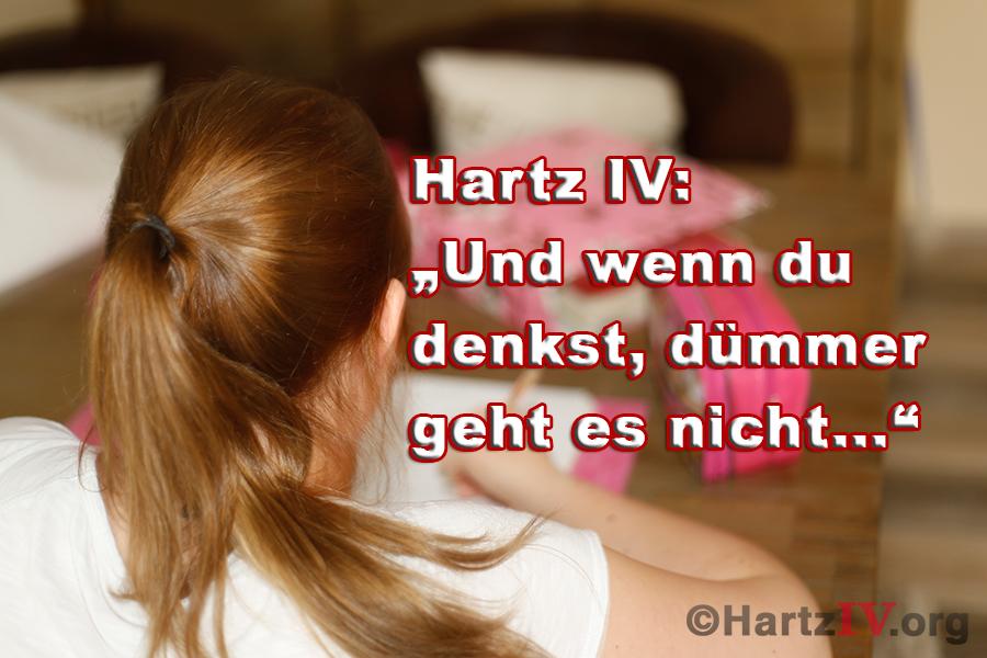 Hartz IV Sanktionsandrohungen gegen minderjährige Schüler