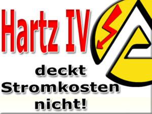 Hartz IV Empfänger zahlen über 30 Prozent für Strom drauf
